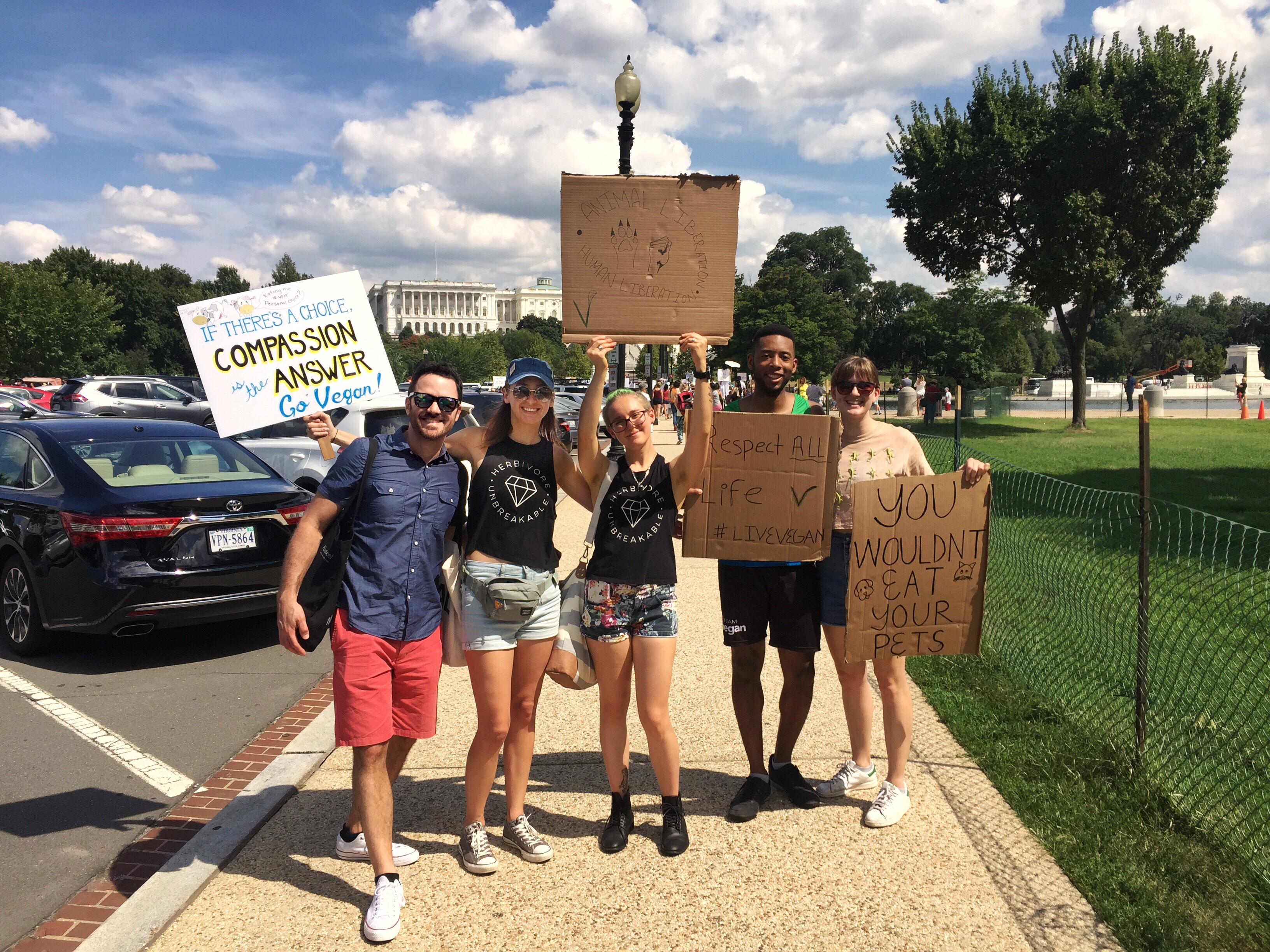 vegans pose animal rights march dc capitol building